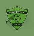 football logo soccer logotype in flat design vector image vector image