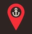 geolocation bar sign map gps navigator mobile vector image
