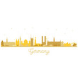 germany city skyline silhouette with golden vector image vector image