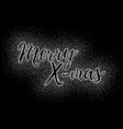 glitter calligraphic inscription vector image vector image