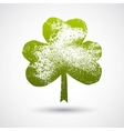 Grunge leaf clover on a white background vector image