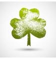 Grunge leaf clover on a white background vector image vector image