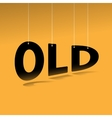 Hanging word old poster vector image vector image