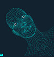 head of the person from a 3d grid geometric face vector image vector image