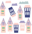 houses seamless pattern it is located in swatch vector image vector image