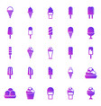 ice cream gradient icons on white background vector image
