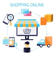 Infographic of sequence for online shopping vector image vector image