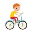 Little happy boy on his sport bike active vector image vector image