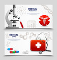 medical research banners set vector image vector image