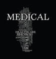 medical trade shows text background word cloud vector image vector image