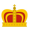 monarchy crown icon isolated vector image vector image