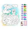 multiplication table 8 for kids math education vector image vector image