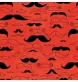 Mustache red seamless pattern vector image