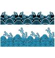 ocean wave pattern vector image vector image