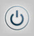 on off switch sign blue icon with outline vector image vector image