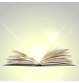 Open book isolated on white background vector image