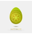 Ornamental egg isolated on white background vector image