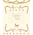 Paper template with lights and horse decoration vector image vector image