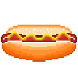 pixel hot-dog isolated vector image