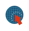 planet sphere with business icon vector image vector image