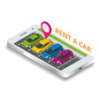 renting a new or used car car rental booking vector image