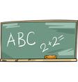 school blackboard cartoon vector image vector image