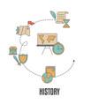 school subjects design concept school subjects vector image vector image