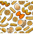 seamless pattern backdrop design of italian pasta vector image