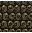 Seamless pattern with stylish spiral curls vector image vector image
