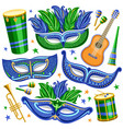 set for brazil carnival vector image