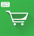 shopping cart icon business concept shopping vector image