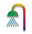 shower sign colorful icon with bright vector image