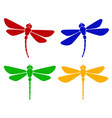 silhouette dragonfly vector image vector image
