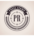 Stamp calligraphic design logo Luxury vector image vector image