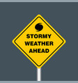 stormy weather ahead signboard hurricane vector image