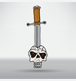 sword in the skull vector image