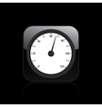 tachometer icon vector image vector image