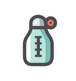 thermometer with different levels icon vector image
