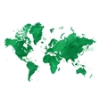 watercolor green map world with a vector image vector image