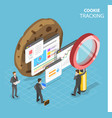 web cookie tracking flat isometric concept vector image vector image