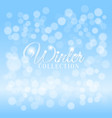 winter background with bokeh effect vector image