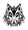 wolf tribal tatto animal creativity design vector image