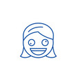 zany face emoji line icon concept zany face emoji vector image vector image