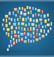 bubble made from colorful icons phones vector image