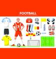 football sport equipment soccer game player vector image