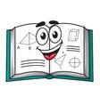 Happy smiling cartoon school textbook vector image