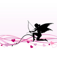 Cupid Valentines Day banner vector image