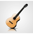 classic guitar isolated on white background vector image