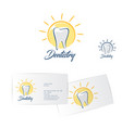 dentistry logo dentist business card vector image