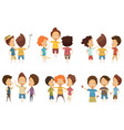 groups of boys cartoon style set vector image
